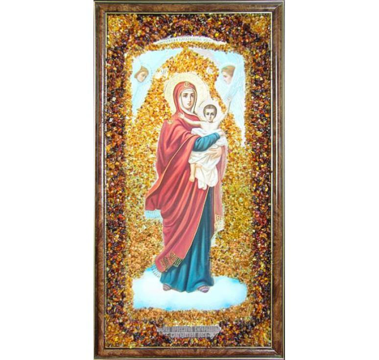 Икона из янтаря Благодатное небо