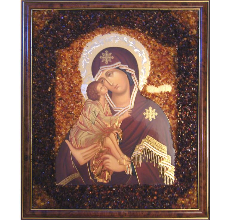 Икона из янтаря Донская БМ