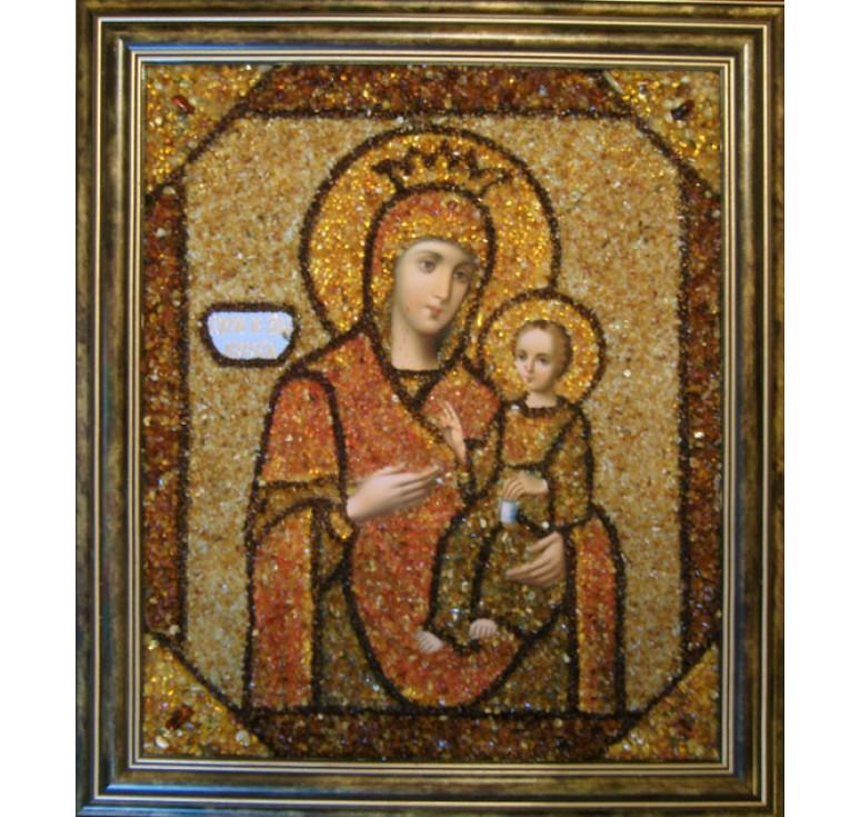 Икона из янтаря БМ Иверская