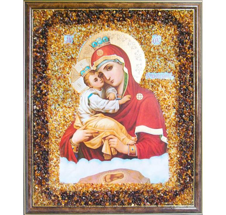 Икона из янтаря Почаевская БМ