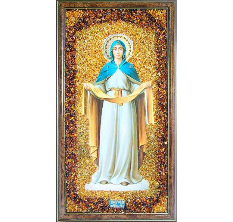 Икона из янтаря Покров