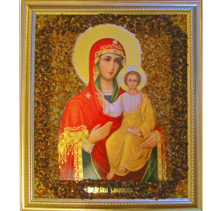 Икона из янтаря Смоленская БМ