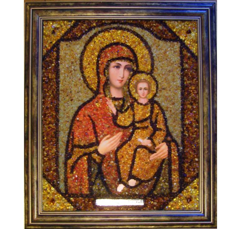 Икона из янтаря БМ Смоленская