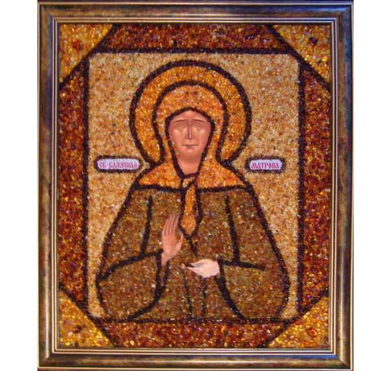 Икона из янтаря Святая Матрона