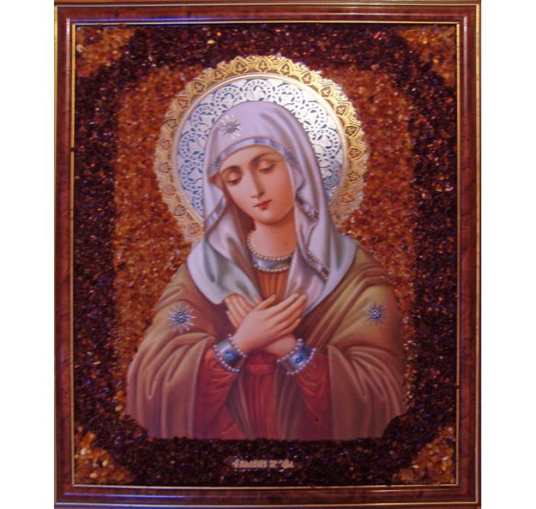 Икона из янтаря Умиление БМ