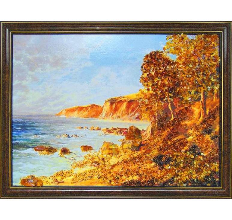 Картина из янтаря Морской берег