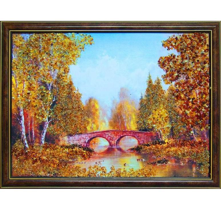 Картина из янтаря Старый мост