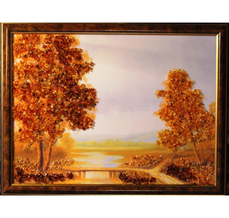 Картина из янтаря Мостик
