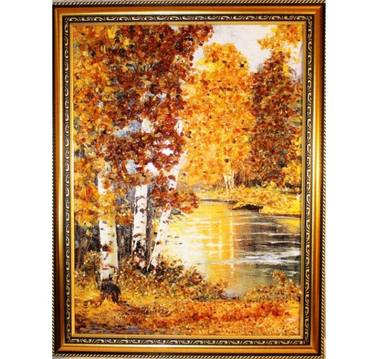 Картина из янтаря Березы